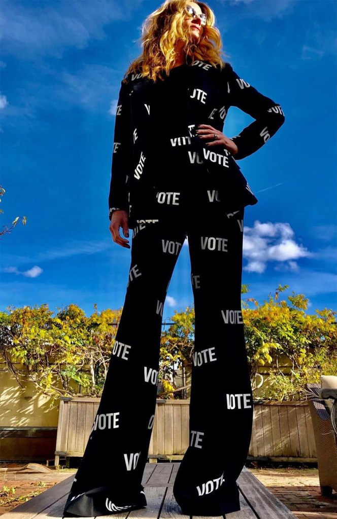 Julia Roberts Encourages People To Vote Wearing Christian Siriano