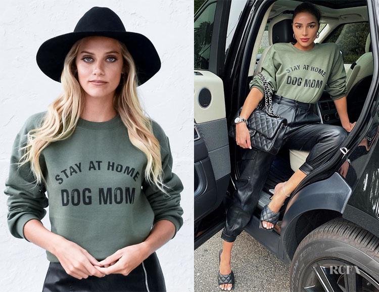 Olivia Culpo's Stay At Home Dog Mom Sweatshirt