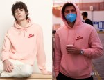 Tom Holland's Sandro Shit Happens Pink Long Sleeve Hoodie