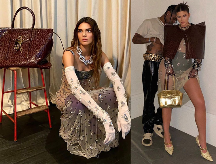 Kendall and Kylie Jenner wear Matthew Williams Debut Givenchy Spring 2021 Collection