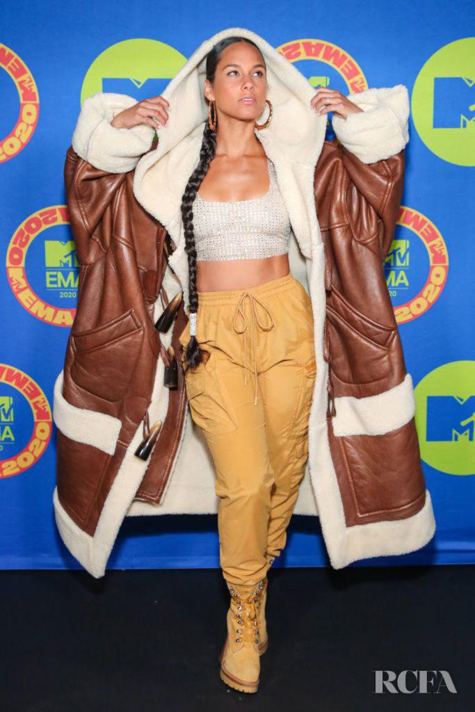 Alicia Keys Wore Moschino To The 2020 MTV EMAs