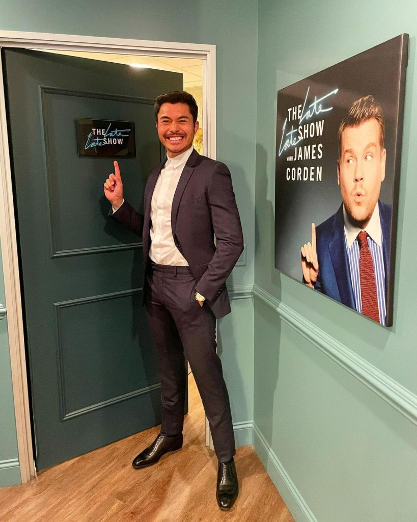 Henry Golding Wore Dior Men On The Late Late Show with James Corden