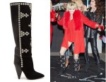 Miley Cyrus' Isabel Marant Lyork Studded Knee-High Boots