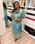 Mindy Kaling Wore Rixo To The 2020 People's Choice Awards