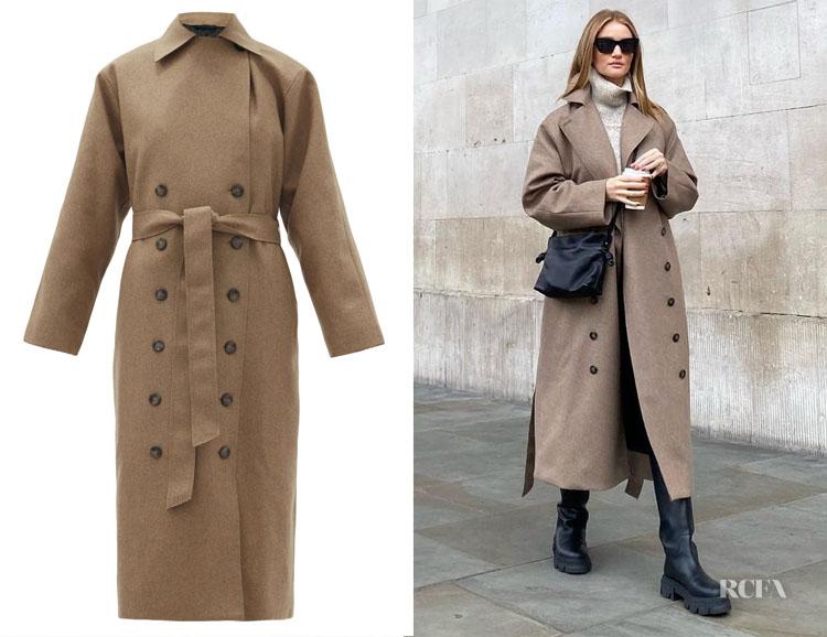 Rosie Huntington-Whiteley's Totême Terlago Trench Coat