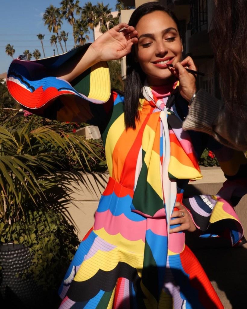 Gal Gadot Wore rainbow Patou Promoting 'Wonder Woman 1984'
