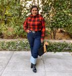 Mindy Kaling Goes Mad For Plaid Monse