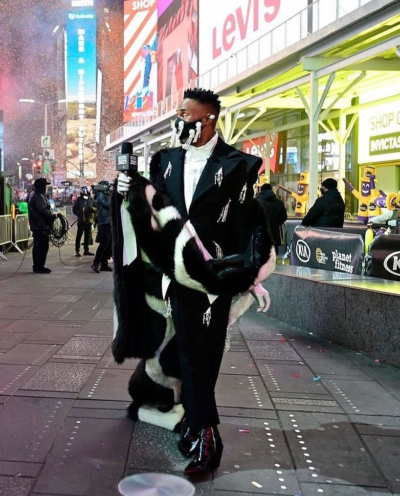 Billy Porter in Christoph Rumpf 2021 Dick Clark's New Year's Rockin' Eve Special