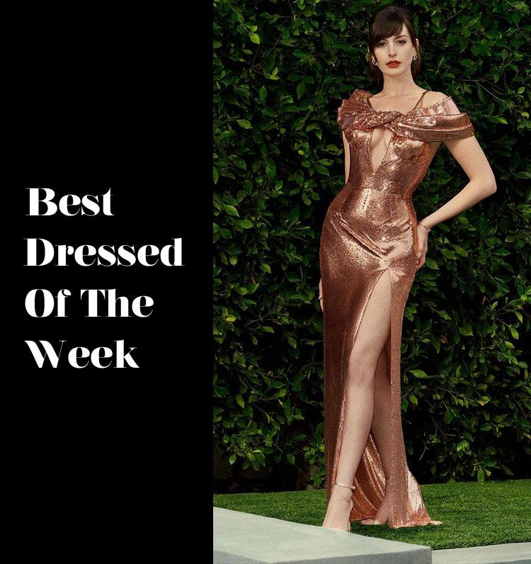 Best Dressed Of The Week - Anne Hathaway In Atelier Versace
