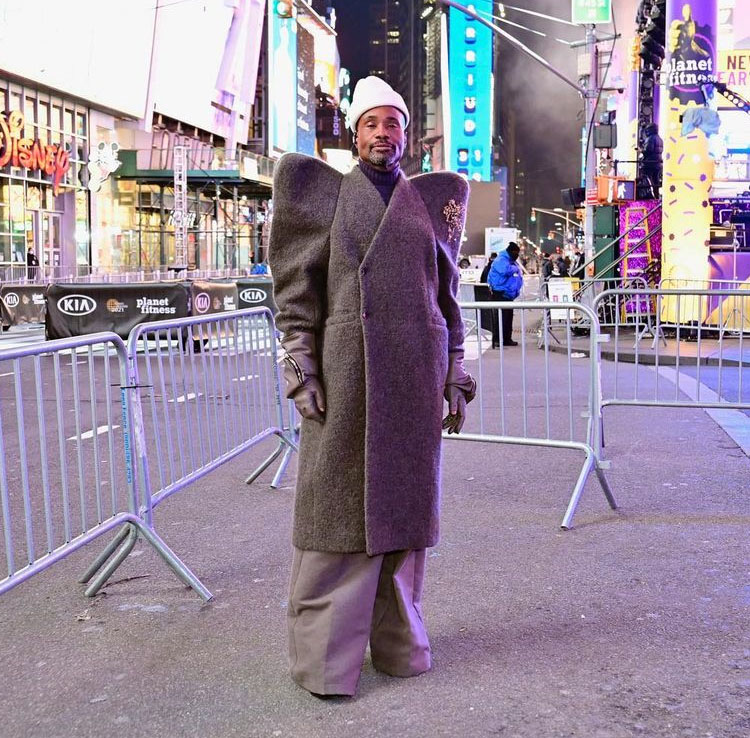 Billy Porter in Rick Owens 2021 Dick Clark's New Year's Rockin' Eve Special