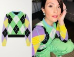 Gemma Arterton's Versace Argyle Cashmere Sweater
