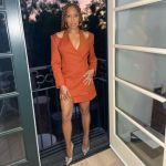 Regina King Wore Dion Lee On Jimmy Kimmel Live!
