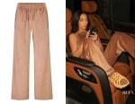Kim Kardashian's SKIMS Velour Track Pants