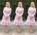 Maria Bakalova Wore Giambattista Valli Promoting  'Borat Subsequent Moviefilm'