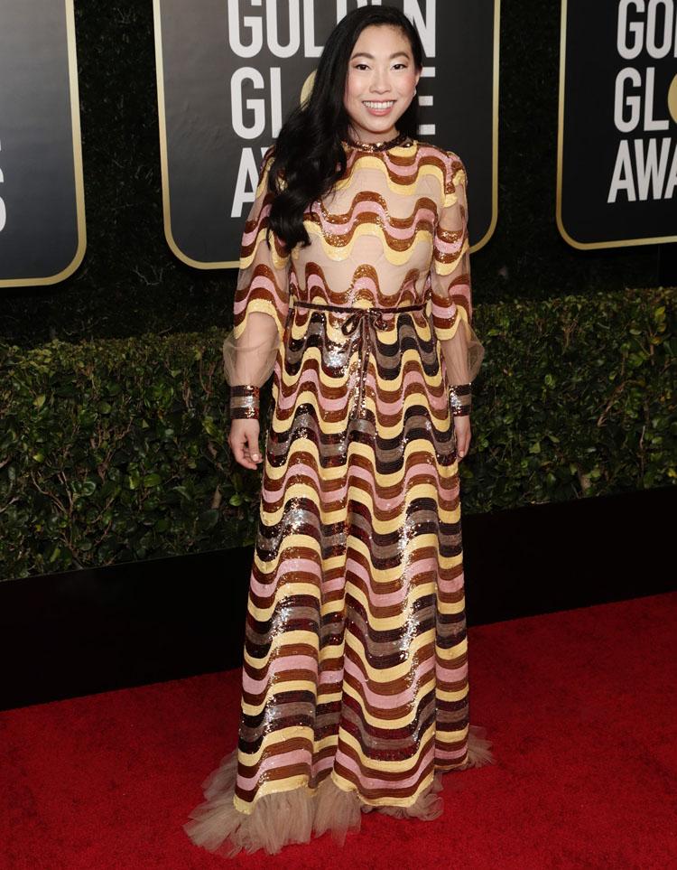 Awkwafina Gucci Golden Globe Awards