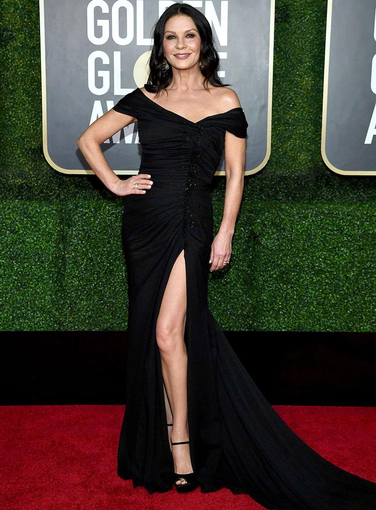 Catherine Zeta Jones Dolce & Gabbana 2021 Golden Globe Awards