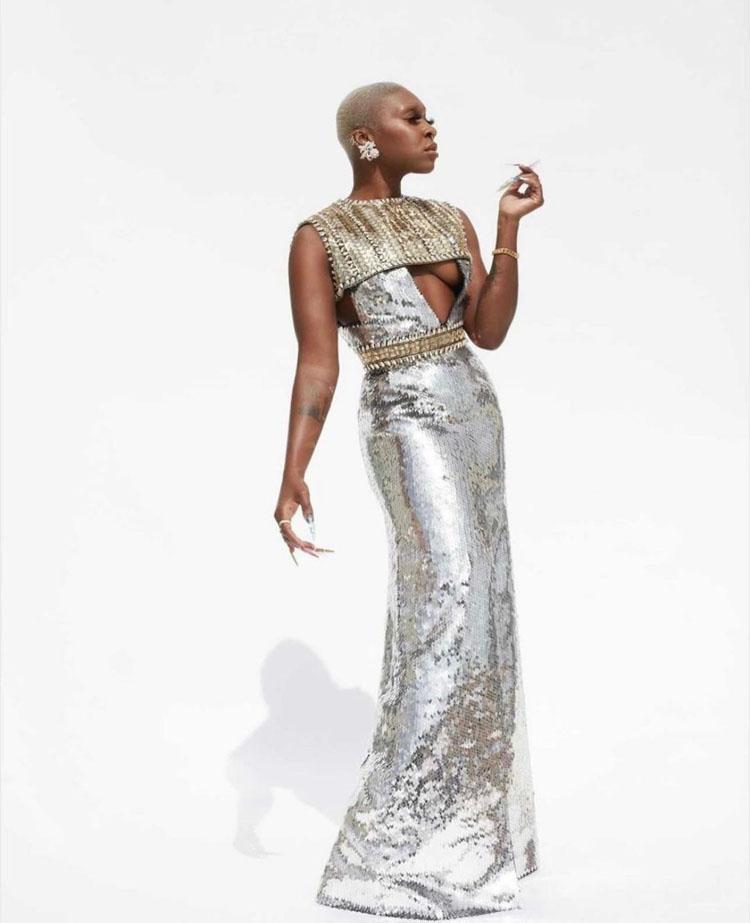 Cynthia Erivo Wore Louis Vuitton To The 2021 Grammy Awards