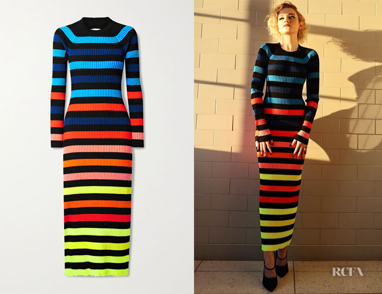 Julia Garner's Christopher John Rogers Striped Dress