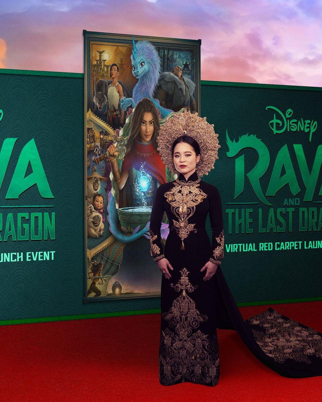 Kelly Marie Tran Wore Thai Nguyen To The 'Raya and the Last Dragon' Premiere