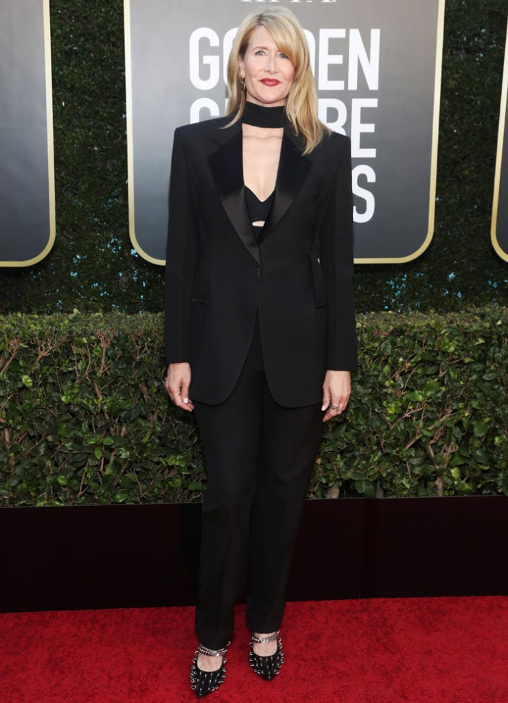 Laura Dern Wore Givenchy To The 2021 Golden Globe Awards