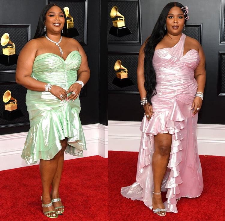 Lizzo Wore Balmain To The 2021 Grammy Awards