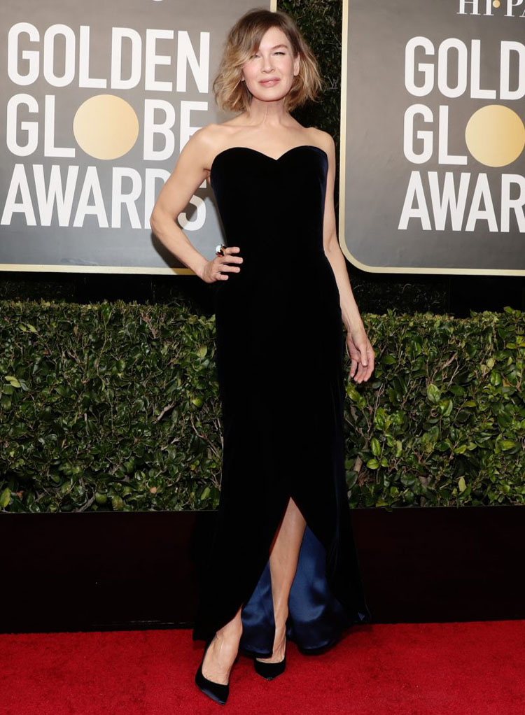 Renée Zellweger Wore Armani Privé To The 2021 Golden Globe Awards