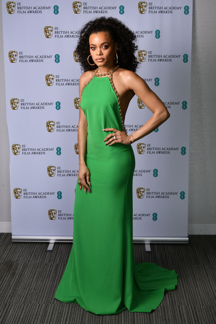 Andra Day Wore Elie Saab To The 2021 BAFTAs