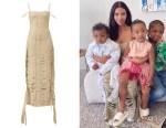 Kim Kardashian's Givenchy Fringed Banded Ribbon Gown