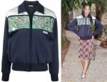 Kyla Drew's Miu Miu Embroidered Fleece Blouson Jacket
