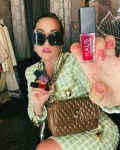 Lady Gaga Promotes HAUS LABORATORIES Wearing Moschino