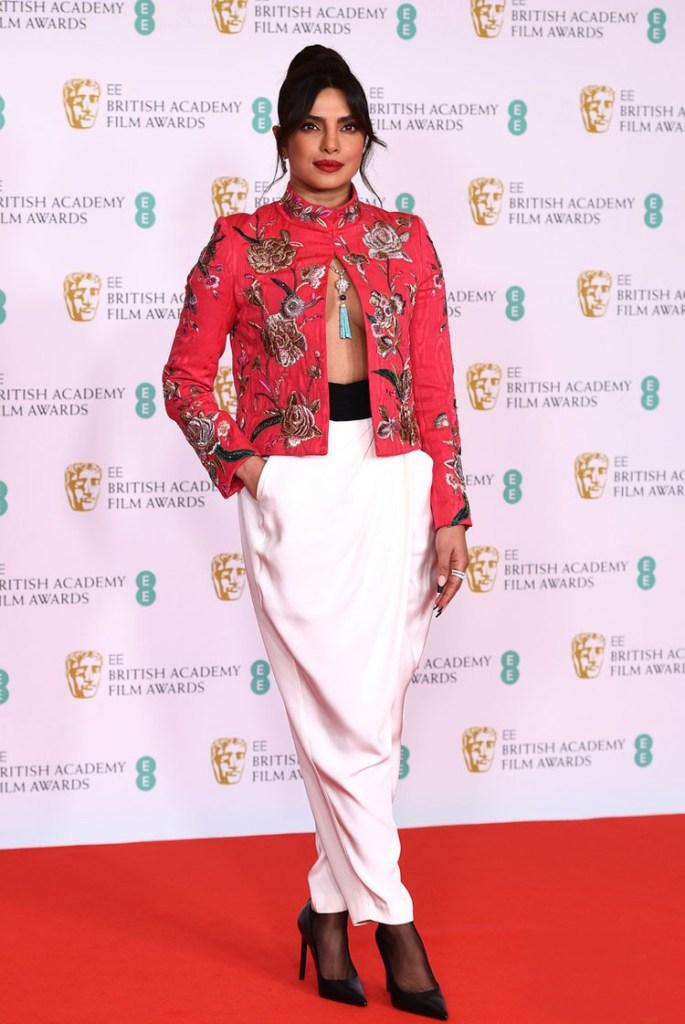 Priyanka Chopra Wore Pertegaz To The 2021 BAFTAs