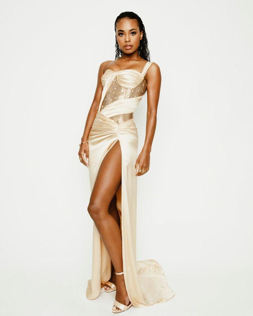 Zaria Simone Wore Dolce & Gabbana To The 2021 Oscars