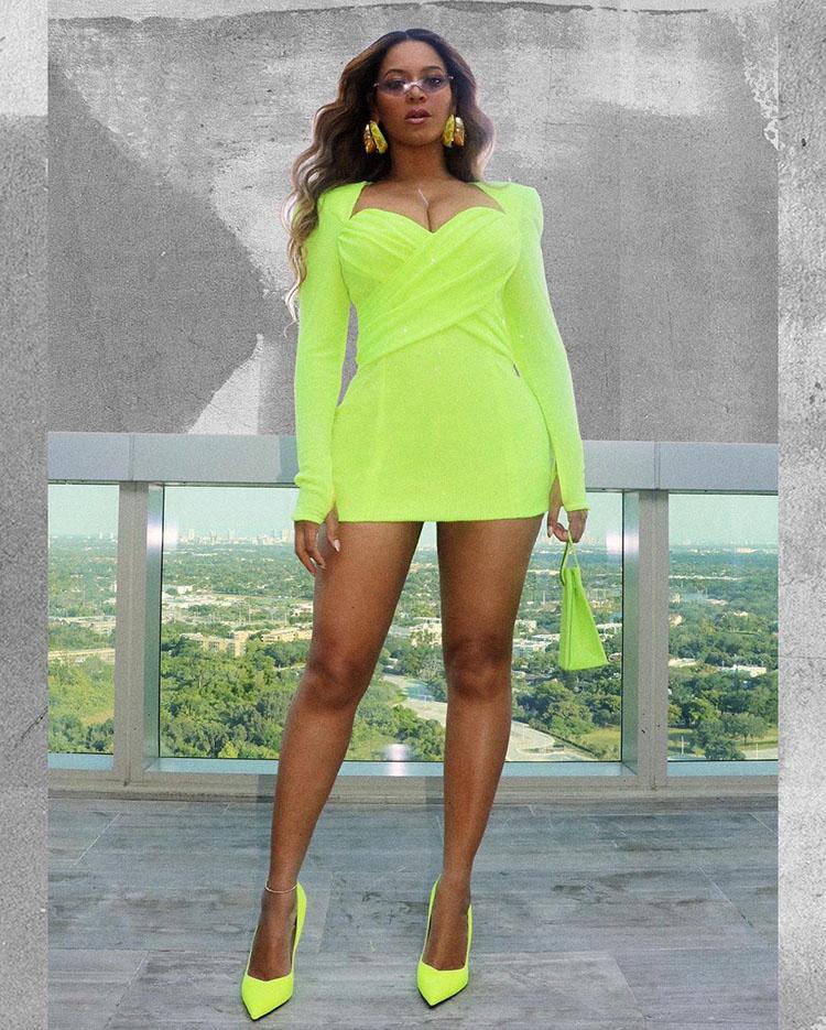 Beyonce Wore Neon Balmain For The 'Gram