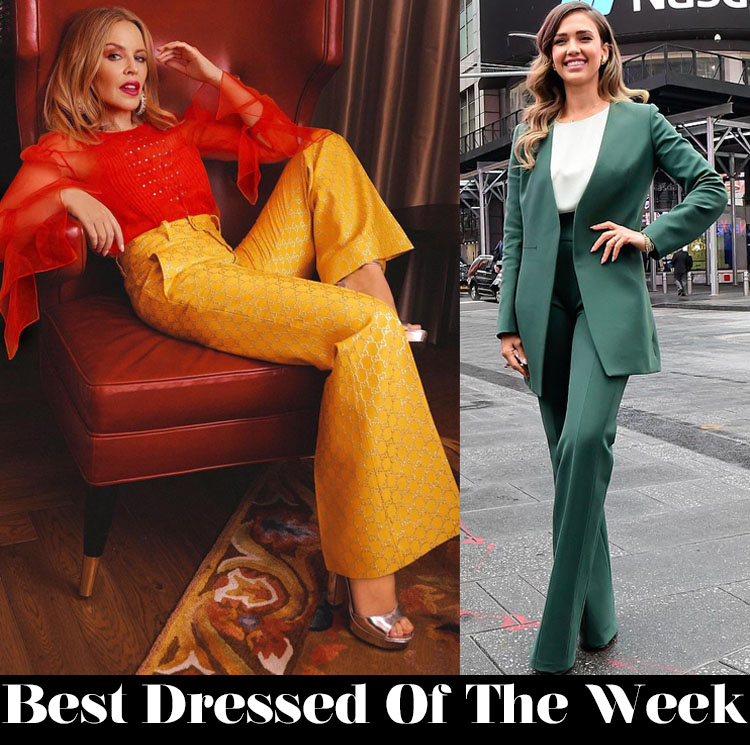 Best Dressed Of The Week - Kylie Minogue In Gucci & Jessica Alba In Narciso Rodriguez