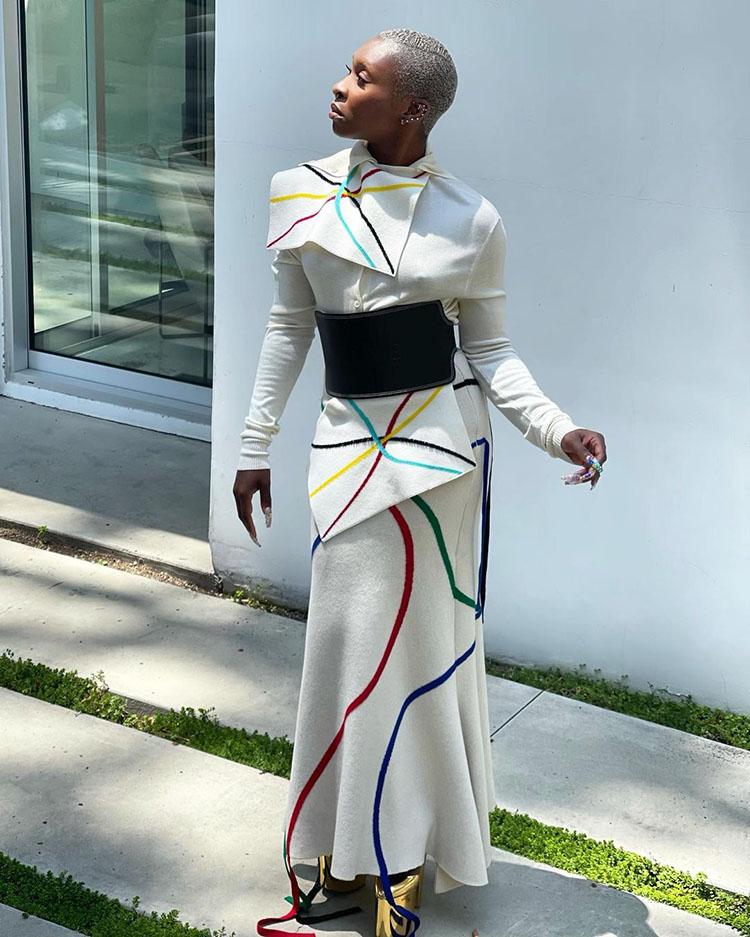 Cynthia Erivo Wore Loewe For The 'Gram
