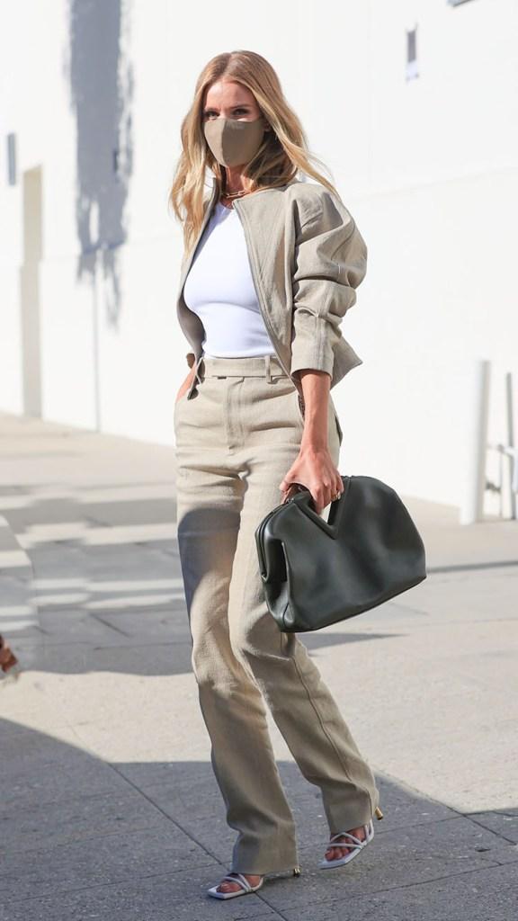 Rosie Huntington-Whiteley Wore Bottega Veneta Out In LA