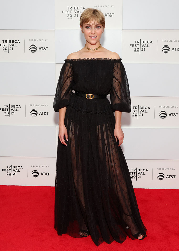 AnnaSophia Robb Wore Christian Dior To The 'Dr. Death' Tribeca Film Festival Premiere