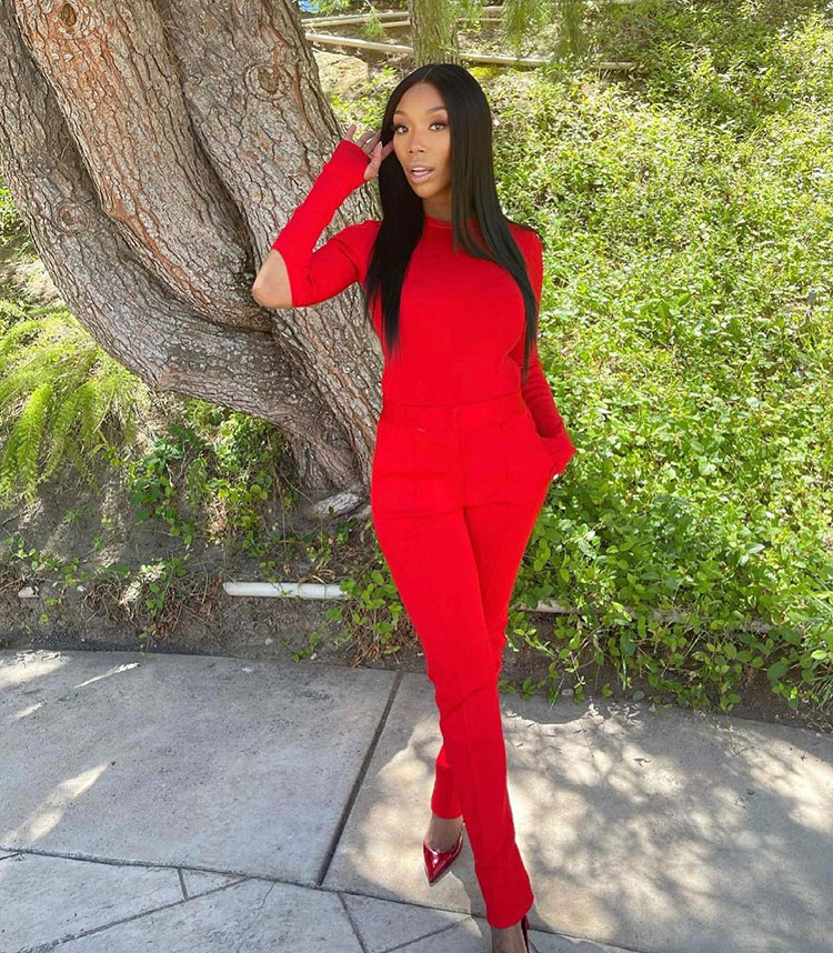 Brandy Wore Givenchy Promoting Disney's Princess Anthem 'Starting Now'