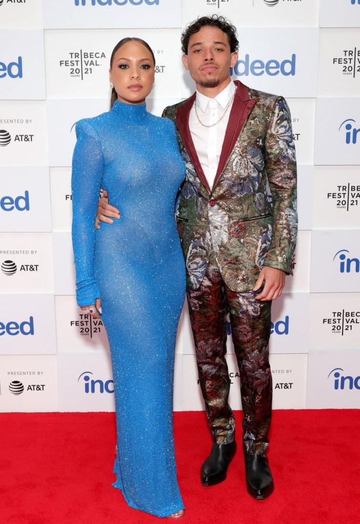 Jasmine Cephas Jones Wore Naeem Khan. & Anthony Ramos Wore Dolce & Gabbana To The 'Blindspotting' Tribeca Film Festival Premiere