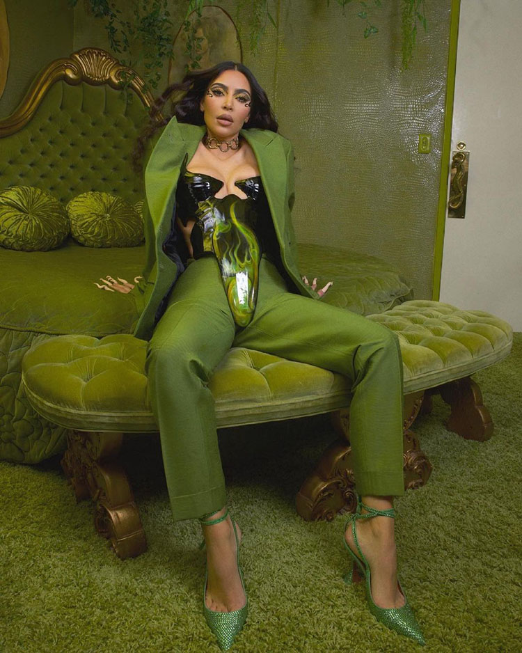 Kim Kardashian Wore Luis De Javier & Jean Paul Gaultier For The 'Gram