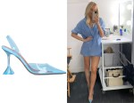 Morgan Stewart's Amina Muaddi Transparent Holli Slingback Pumps