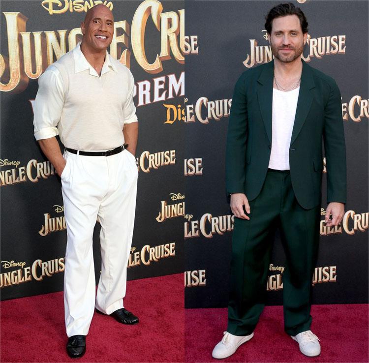 Dwayne Johnson & Édgar Ramírez Attend The 'Jungle Cruise' World Premiere