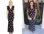 Mindy Kaling's Norma Kamali Star-Print Jersey Maxi Dress