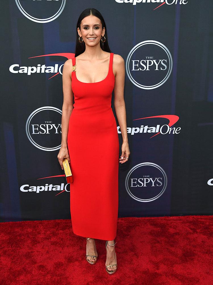 Nina Dobrev in Versace -  2021 ESPY Awards