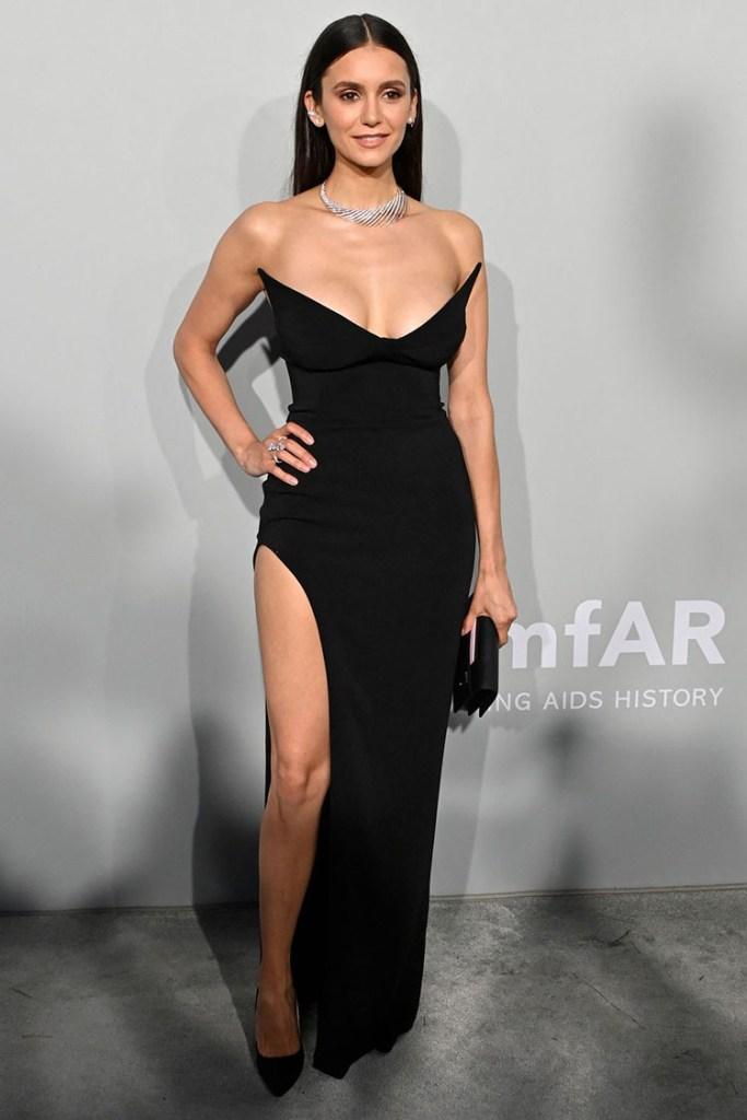 Nina Dobrev Wore Mônot To The amfAR Cannes Gala