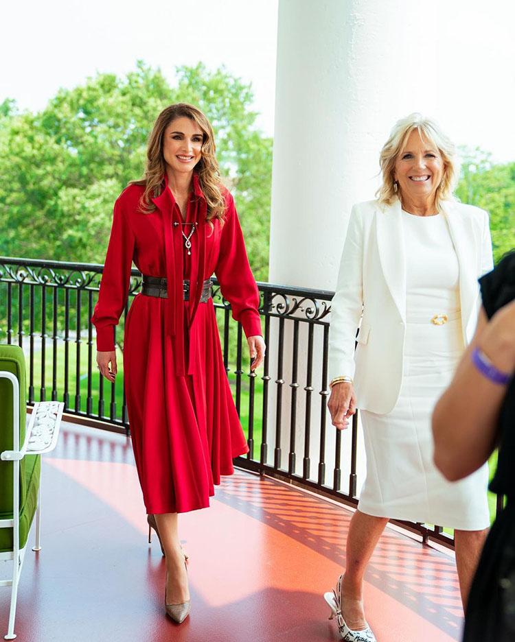 Queen Rania Of Jordan and Dr Jill Biden