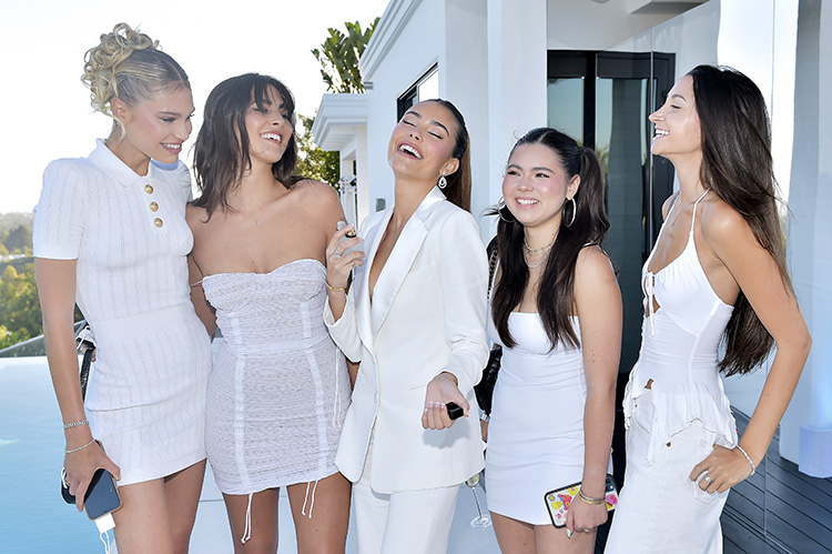 Madison Beer Wore Emporio Armani For The Launch of Victoria's Secret Newest Fragrance, Tease Crème Cloud