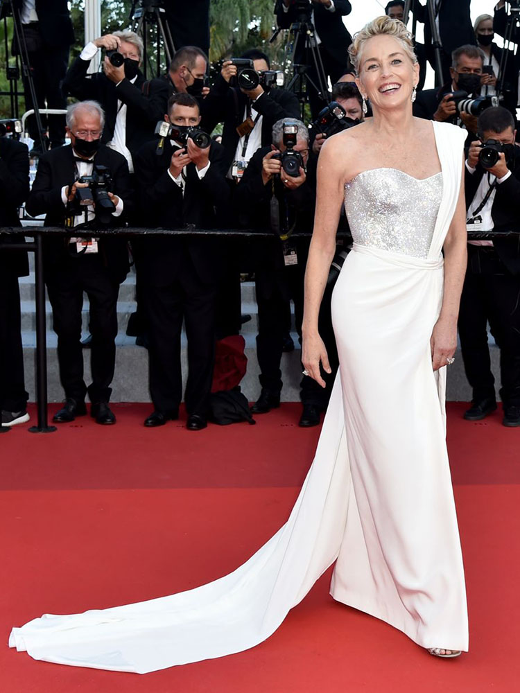 Sharon Stone Wore Dolce & Gabbana For The 'OSS 117: From Africa With Love' Cannes Film Festival Premiere