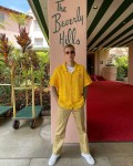 Justin Bieber Wore  Casablanca To The Beverly Hills Hotel