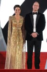 Catherine, Duchess of Cambridge Wore Jenny Packham To The 'No Time To Die' World Premiere